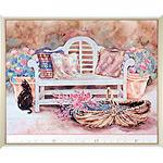 アートポスター 「ガーデン ベンチ」 ヘレン・ポール作