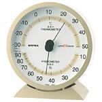 スーパーEX高品質温度計・湿度計 卓上用 サイズ:(約)132×121×50mm シャンパンゴールド (EX-2718)