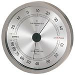 スーパーEX高品質温度計・湿度計 壁掛用 直径(約)140mm メタリックグレー (EX-2727)