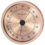 スーパーEX高品質温度計・湿度計 壁掛用 直径(約)140mm シャンパンゴールド (EX-2728)