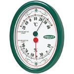 グリーンリーフ温度計・湿度計 オーバル型 壁掛け用 (TM-2313)