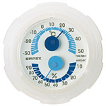 シュクレミニ温度計・湿度計 ホワイト