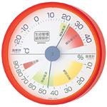 生活管理温度計・湿度計 丸型 クリアオレンジ (TM-2414)