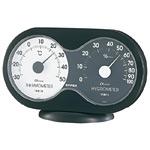 アキュート温度計・湿度計 ブラック