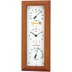 ワンダーワーカー温度計・湿度計 ウッド調