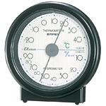 セレステ温度計・湿度計 ブラック (中はホワイト)