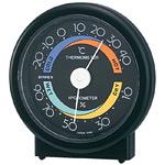 セレステ温度計・湿度計 ブラック (中もブラック)