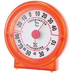シュクレ温度計・湿度計 オレンジ