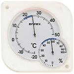 シュクレmidi温度計・湿度計 ホワイト