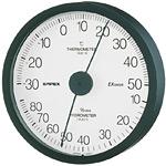 エクストラ温度計・湿度計 ブラック