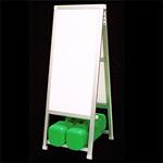 アルミ製額縁A型看板 450×900+足300 CN-10 透明保護板付