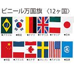 ビニール万国旗 12ヶ国万国旗 旗寸法26.5×38cm・全長6.5m