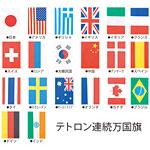 20ヶ国連続万国旗 テトロン生地 旗寸法28×41cm・全長11.5m