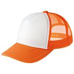 イベントメッシュキャップ (12576) オレンジ・ホワイト