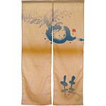 エステル麻のれん (3560) 技 (かぶ) 帯デザイン付