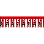 ロール幕 (3793) 大売出し 紅白幕 H600×W7800mm