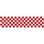 ロール幕 (3821) 市松模様 紅白 H600×W10200mm