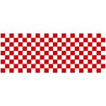 ロール幕 (3867) 市松模様 紅白 H900×W10200mm