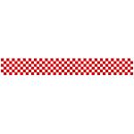 ロール幕 (3913) 市松模様 紅白 H300×W10200mm
