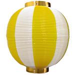 【尺丸】ストライプカラーポリちょうちん (8873) 黄白