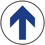 床面サイン フロアラバーマット 円形 矢印サイン 防炎シール付 Dタイプ 直径40cm (PEFS-009-D(40))