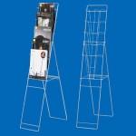 スリムパンフレットスタンドTCS-10 A4 5段