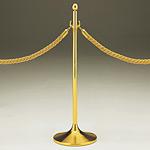 ロープパーティション UP231-20 ゴールド
