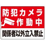 防犯カメラ作動中 関係者以外立入禁止 A オリジナル プレート看板 W600×H450 アルミ複合板
