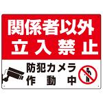 防犯カメラ作動中 関係者以外立入禁止 B オリジナル プレート看板 W600×H450 アルミ複合板