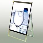 ポスター用スタンド看板 A1片面・化粧ビス:シルバー PSSK-A1_SLV