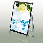 ポスター用スタンド看板 B2片面・化粧ビス:シルバー PSSK-B2_SLV