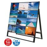 ブラック A4サイズ カードケーススタンド看板 規格:A4横×12枚 片面 (BCCSK-A4Y12K)