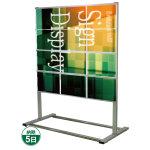 垂直型カードケースメッセージスタンド A4サイズ対応 規格:A4横×12 片面 ハイタイプ (CCMS-A4Y12KH)