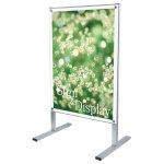 A1ポスター用 屋内用メッセージスタンド 面板カラー:ホワイト(両面) (PSMS-A1RW)