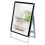 化粧ビス式ポスター用スタンド看板 A1 片面 ブラック (PSSK-A1KB)