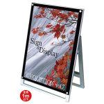 化粧ビス式ポスター用スタンド看板 A1ロータイプ 片面 ブラック (PSSK-A1LKB)