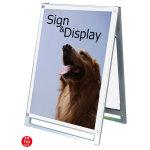 化粧ビス式ポスター用スタンド看板 A1ロータイプ 両面 ホワイト (PSSK-A1LRW)