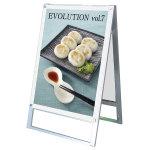 化粧ビス式ポスター用スタンド看板 A1 両面 ホワイト (PSSK-A1RW)