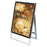 ポスター用スタンド看板セパレートポケット 屋内用 規格:A1 片面 ブラック (PSSKSP-A1KB)