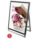ポスター用スタンド看板セパレートポケット 屋内用 規格:A1ロウ 片面 ブラック (PSSKSP-A1LKB)