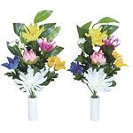 ご仏壇お供花 仏花ききょう2個セット (造花) 高さ35cm 光触媒 (102A20)