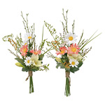 ご仏壇お供花 仏花リリー2個セット (造花) 高さ45cm 光触媒 (112A30)