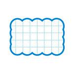 カード 16-4081 抜型カード四角 小 ブルー