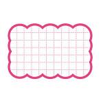 カード 16-4153 抜型カード四角 中 ピンク