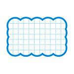 カード 16-4154 抜型カード四角 中 ブルー