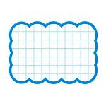 カード 16-4481 抜型カード四角 大 ブルー
