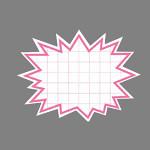 爆弾吹出しカード W90×H68 16-4157 (5セット) ピンク