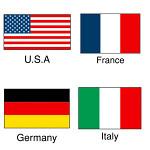 22-2500 国旗シール U.S.A (10セット)