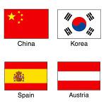 国旗シール 10セット Korea (22-2511*)