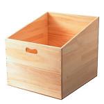 斜めカットBOX 白木 L